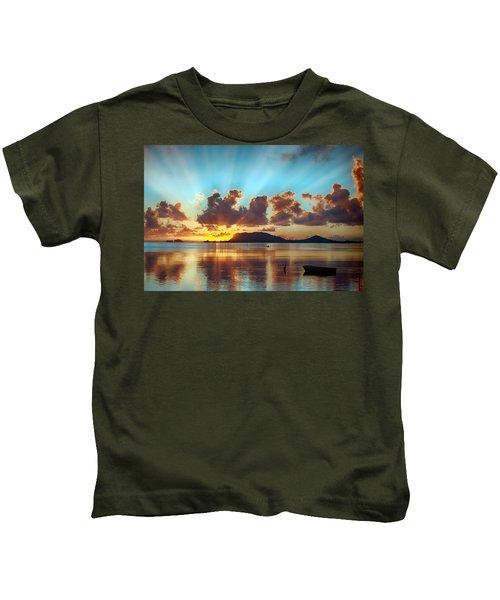 Sunrise Over Marine Corps Base Hawaii Kids T-Shirt