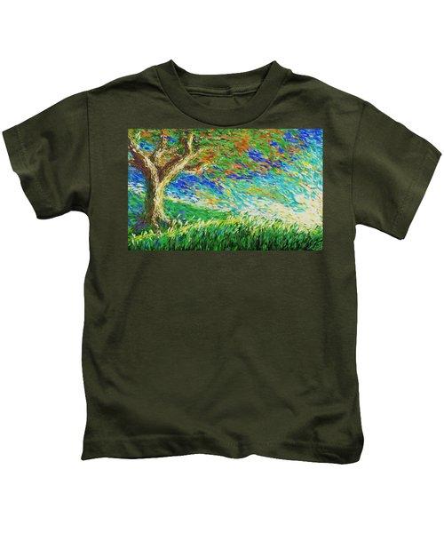 The War Of Wind And Sun Kids T-Shirt