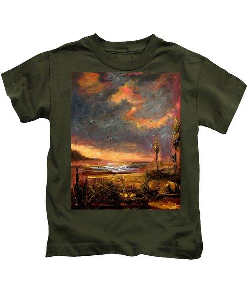 Sunrise With Birds  Kids T-Shirt