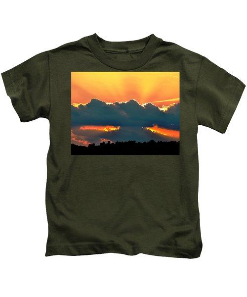 Sunset Over Southern Ohio Kids T-Shirt