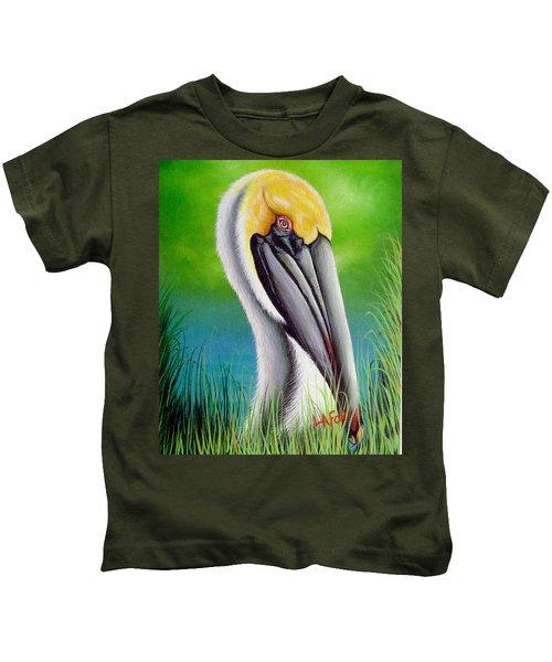 Sunset Pelican Kids T-Shirt