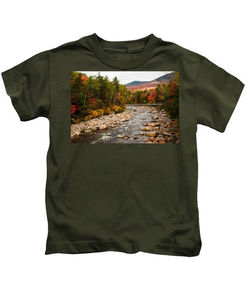 Swift River Painted With Autumns Paint Brush Kids T-Shirt