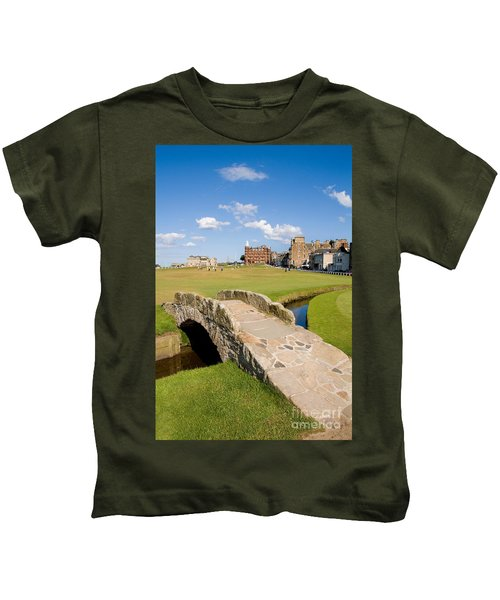 Swilcan Bridge On The 18th Hole At St Andrews Old Golf Course Scotland Kids T-Shirt