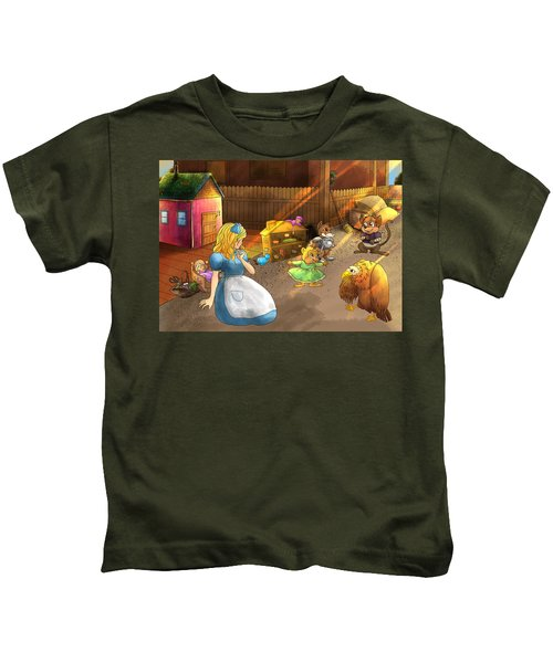 Tammy And Friends In The Backyard Kids T-Shirt
