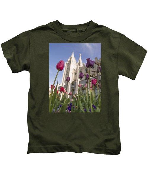 Temple Tulips Kids T-Shirt