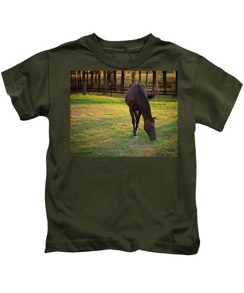 Tender Spring Grass Kids T-Shirt