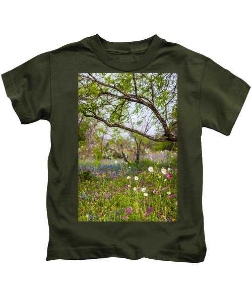 Texas Roadside Wildflowers 732 Kids T-Shirt