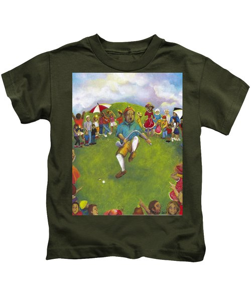 The Angry Golfer  Kids T-Shirt