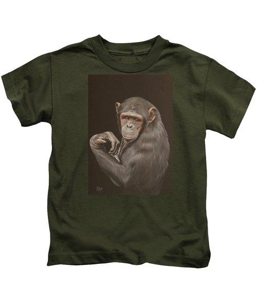 The Arm Wrestler - Chimpanzee Kids T-Shirt