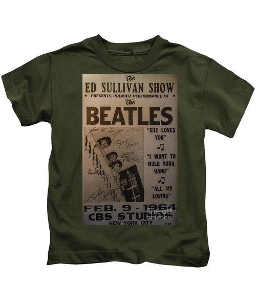 The Beatles Ed Sullivan Show Poster Kids T-Shirt