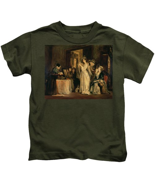 The Bride At Her Toilet On The Day Of Her Wedding, 1838 Oil On Canvas Kids T-Shirt