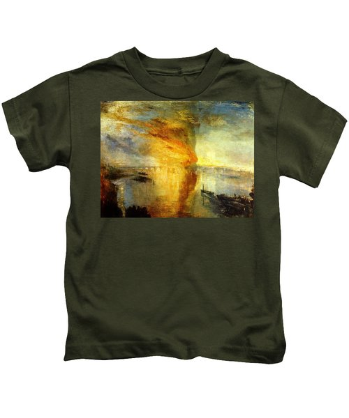 The Burning Of The Houses Of Lords And Commons Kids T-Shirt