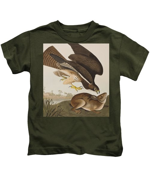 The Common Buzzard Kids T-Shirt by John James Audubon