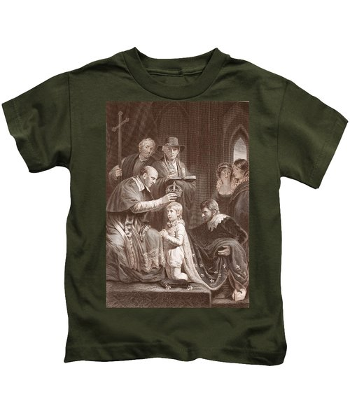 The Coronation Of Henry Vi, Engraved Kids T-Shirt by John Opie