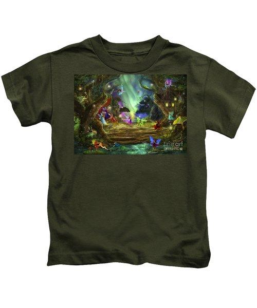 The Dancing Auroras Kids T-Shirt