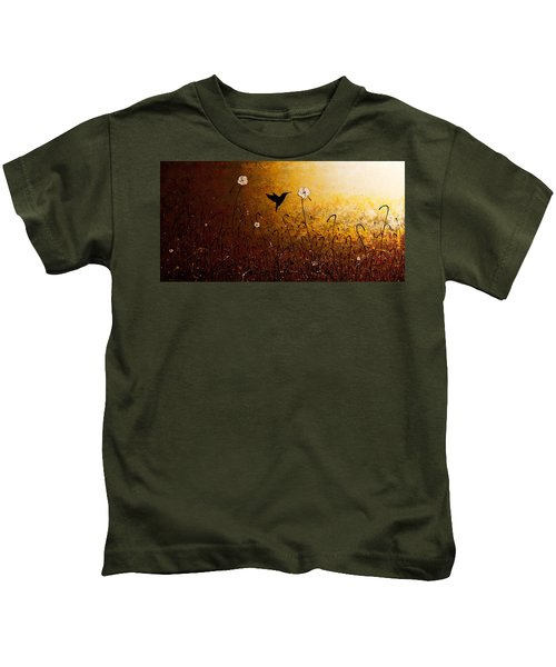 The Flight Of A Hummingbird Kids T-Shirt