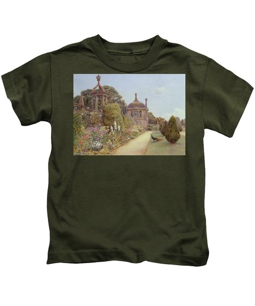 The Gardens At Montacute In Somerset Kids T-Shirt by Ernest Arthur Rowe
