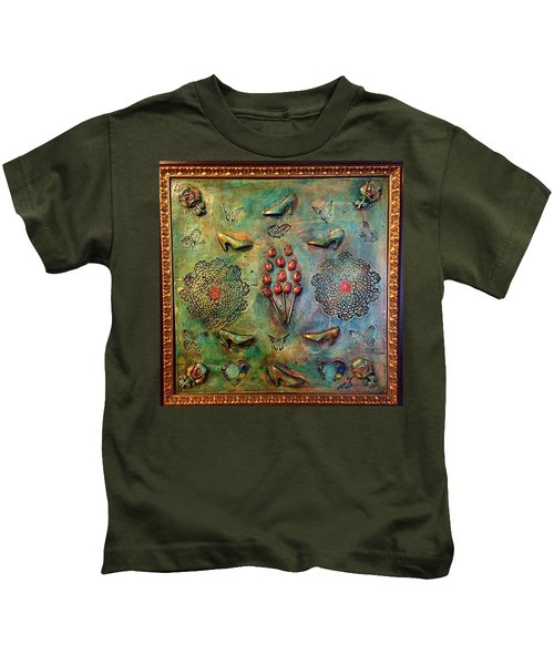 The Gift By Alfredo Garcia Art Kids T-Shirt