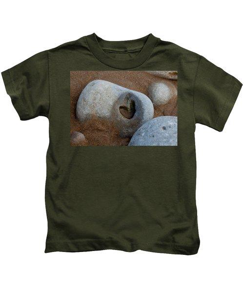 The Heart Of Omaha Beach Kids T-Shirt