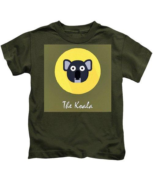 The Koala Cute Portrait Kids T-Shirt by Florian Rodarte