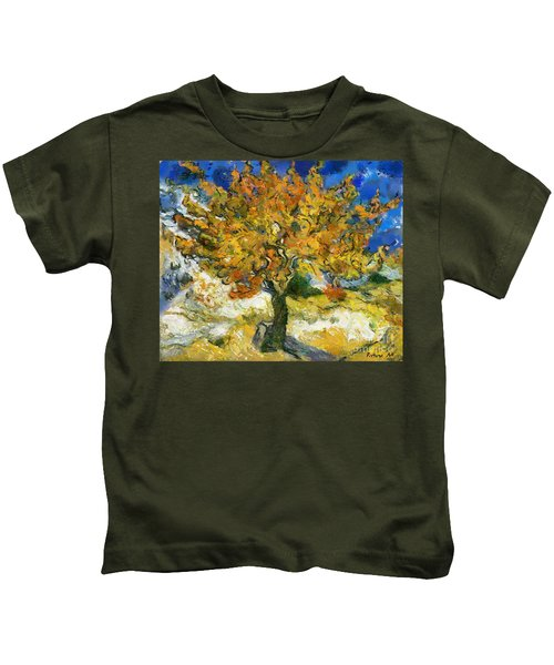 The Mulberry Tree After Van Gogh Kids T-Shirt