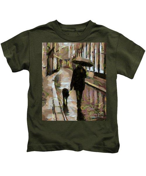 The Rainy Walk Kids T-Shirt