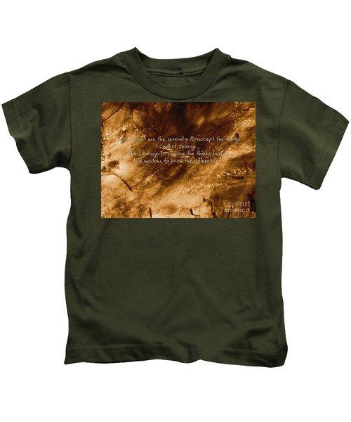 The Serenity Prayer 1 Kids T-Shirt