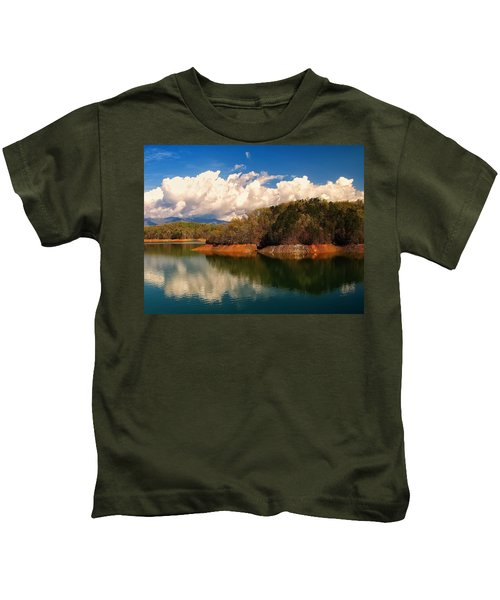 Thunderstorm Rolling Over The Smokies Kids T-Shirt