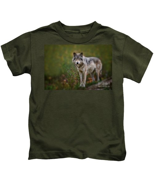 Timber Wolf Pictures 401 Kids T-Shirt