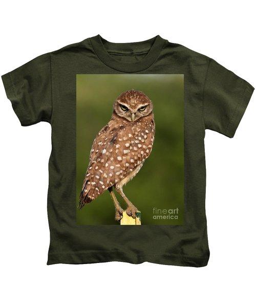 Tiny Burrowing Owl Kids T-Shirt