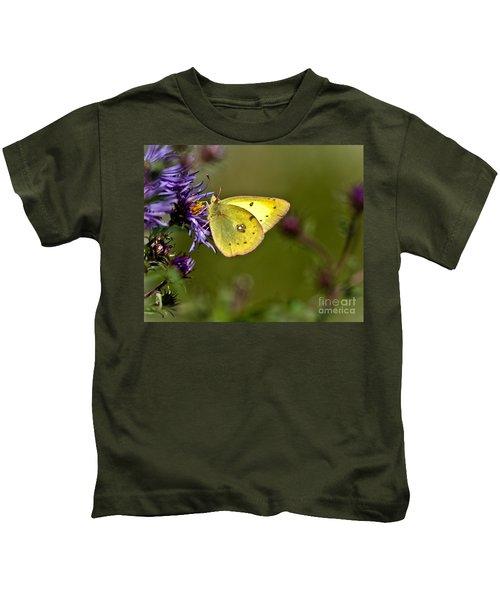 Little Yellow Butterfly Kids T-Shirt