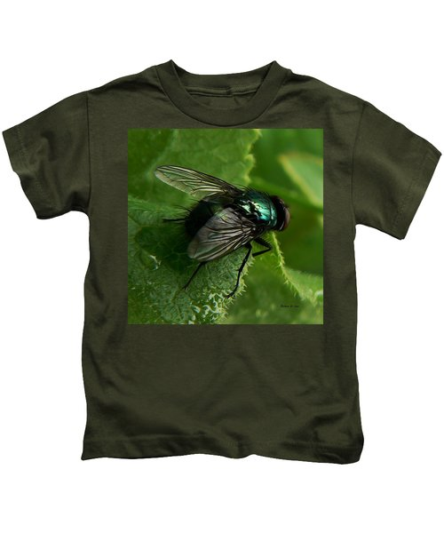 To Be The Fly On The Salad Greens Kids T-Shirt