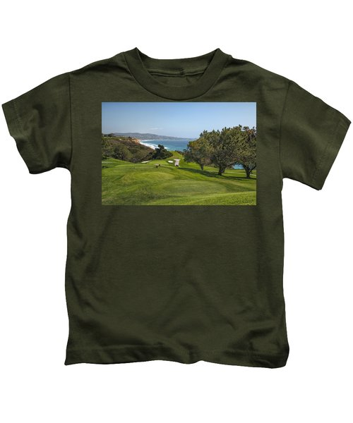 Torrey Pines Golf Course North 6th Hole Kids T-Shirt