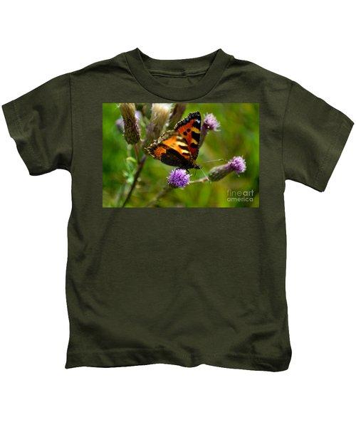 Tortoise Shell Butterfly Kids T-Shirt