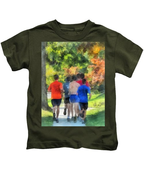 Track Practice Kids T-Shirt