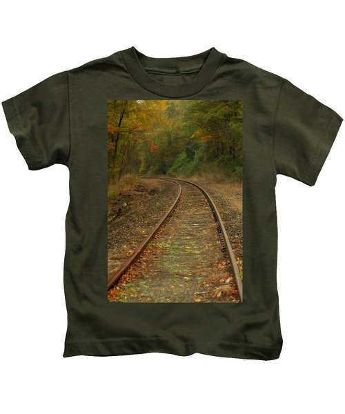 Tracking Thru The Woods Kids T-Shirt