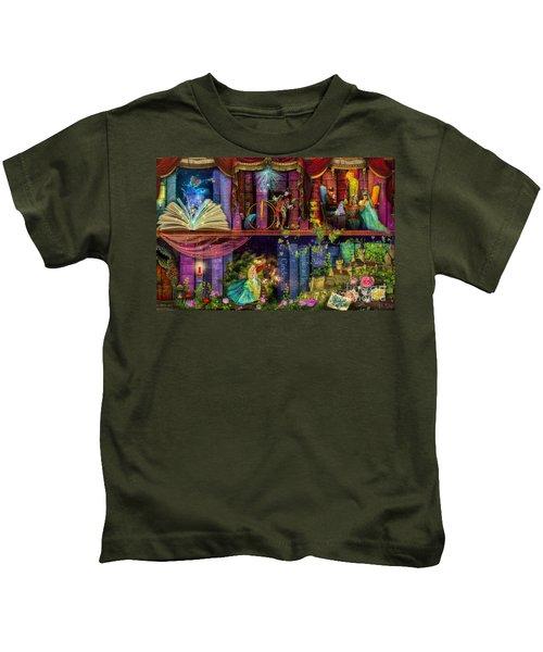 Fairytake Treasure Hunt Book Shelf Variant 4 Kids T-Shirt