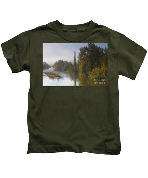 Trees A View From Usk Bridge Kids T-Shirt