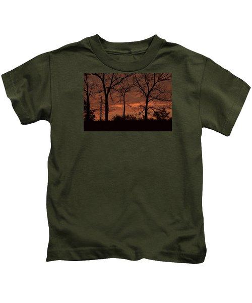 Trees At Sunrise Kids T-Shirt