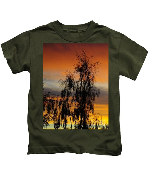 Trees In The Sunset Kids T-Shirt