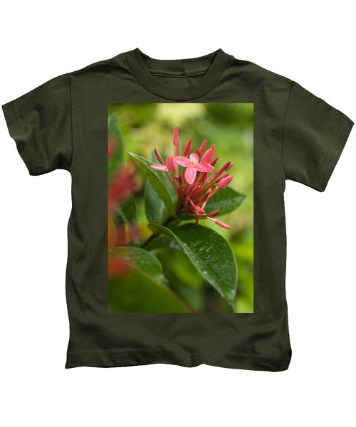 Tropical Flowers In Singapore Kids T-Shirt