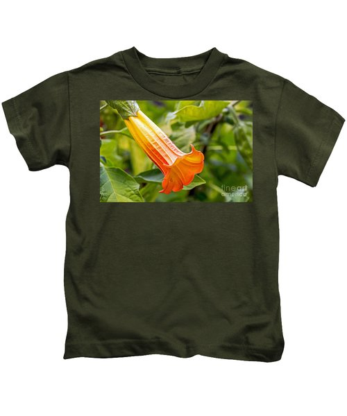 Trumpet Flower Kids T-Shirt