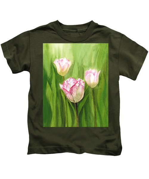 Tulips In The Fog Kids T-Shirt