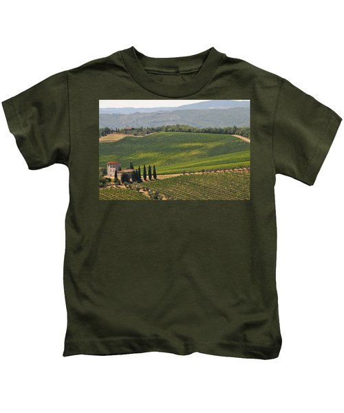Tuscan Hillside Kids T-Shirt
