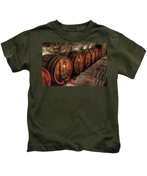 Tuscan Wine Cellar Kids T-Shirt