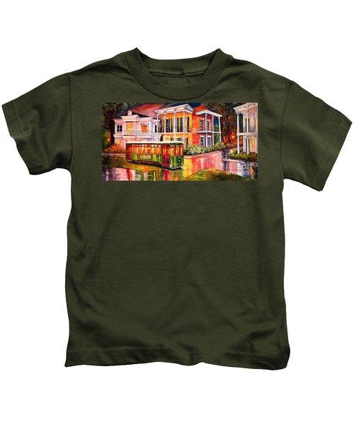 Twilight In The Garden District Kids T-Shirt