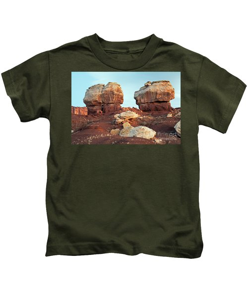 Twin Rocks At Sunrise Capitol Reef National Park Kids T-Shirt