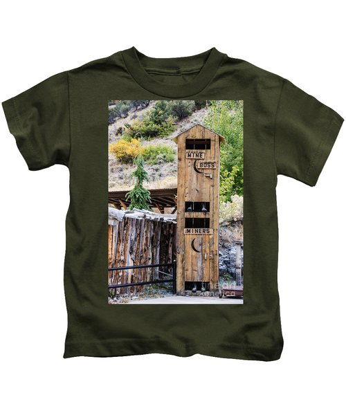 Two-story Outhouse Kids T-Shirt