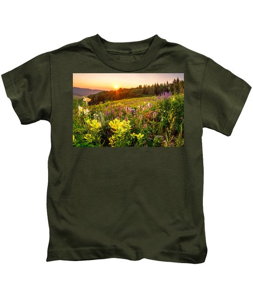 Uinta Wildflowers Kids T-Shirt