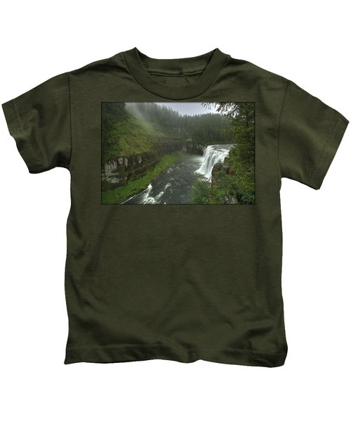 Upper Messa Falls Kids T-Shirt